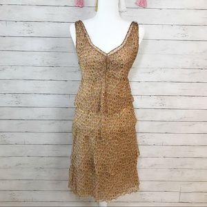 Moschino Cheap and Chic Gold Heart Ruffle Dress 6